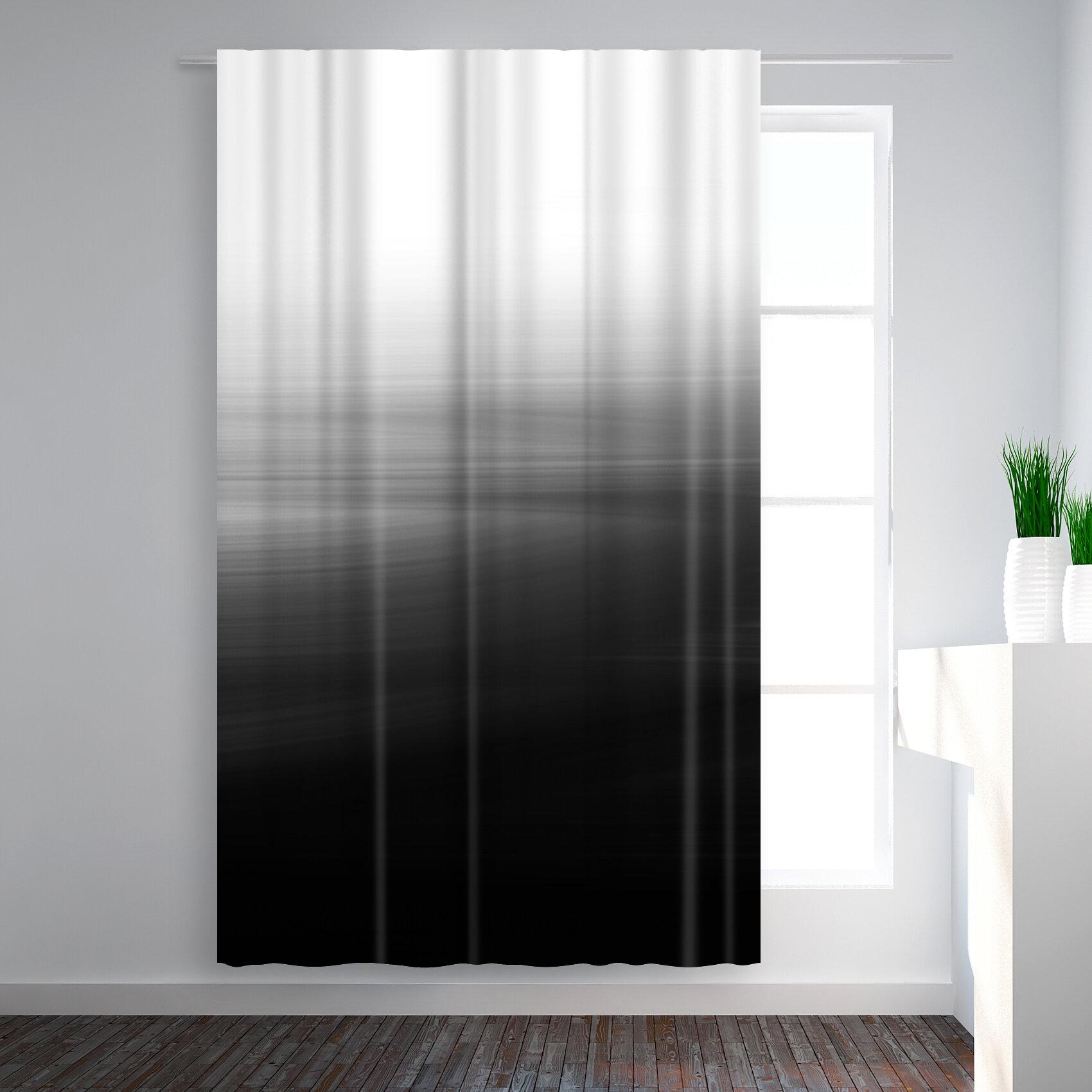 East Urban Home Emanuela Carratoni Abstract Blackout Rod Pocket Single Curtain Panel Wayfair