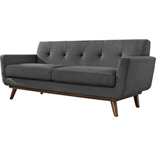 Johnston Tufted Upholstered Loveseat by Langley Street 2019 Sale
