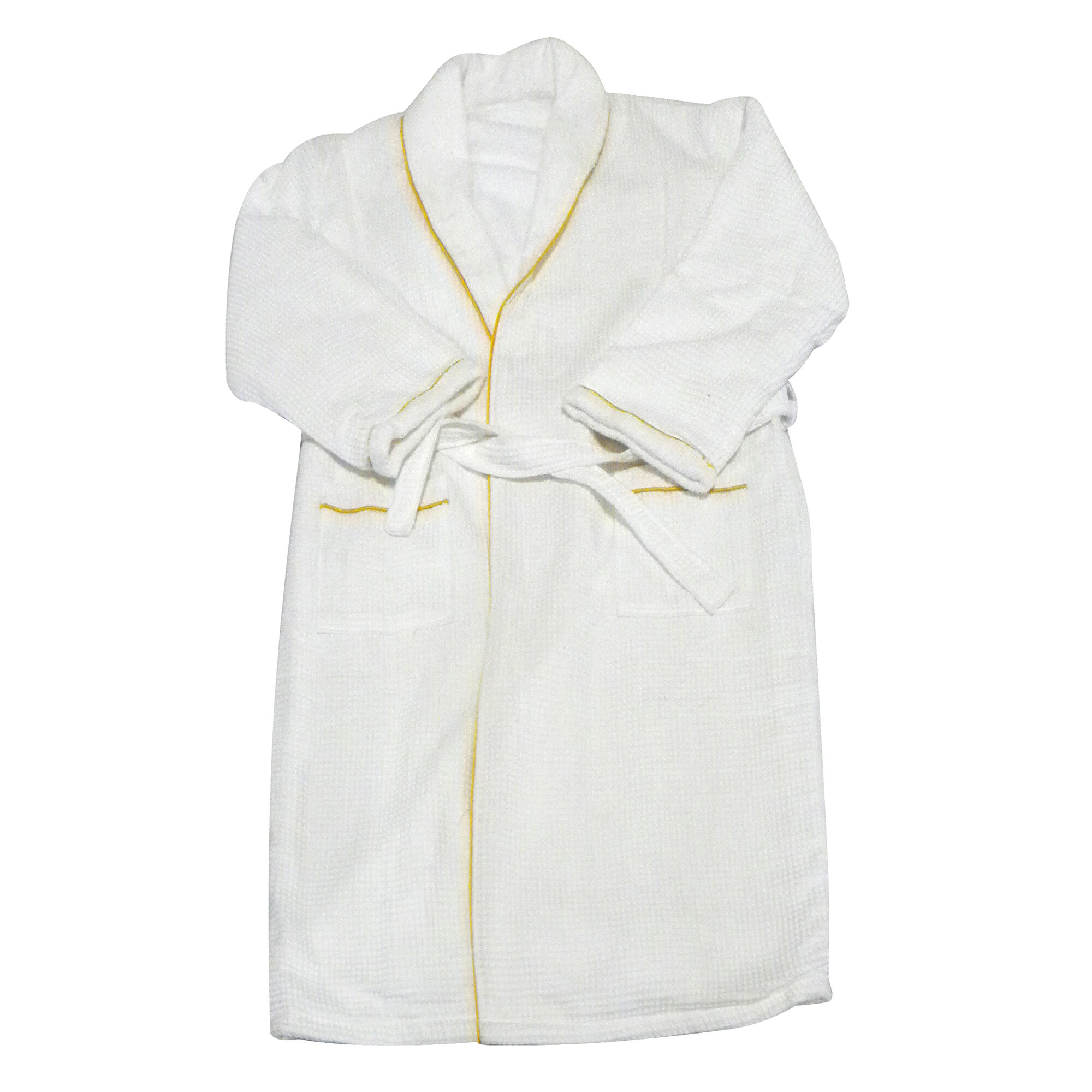 3899ae3aa5 Radiant Saunas Spa and Bath European Weave Cotton Blend Terry Cloth Bathrobe    Reviews