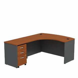 Series C L Shaped Desk with Mobile File Cabinet by Bush Business Furniture