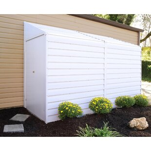 Arrow Yardsaver 4 ft. 1 in. W x 9 ft. 8 in. D Metal Lean-To Storage Shed