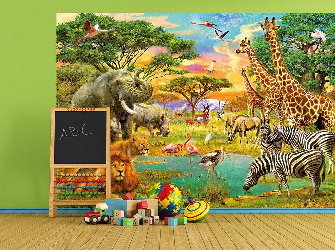 WallPops! On Safari Wall Mural & Reviews | Wayfair