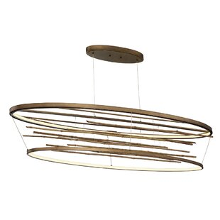 Dayton Bamboo Oval LED Chandelier by Foundry Select