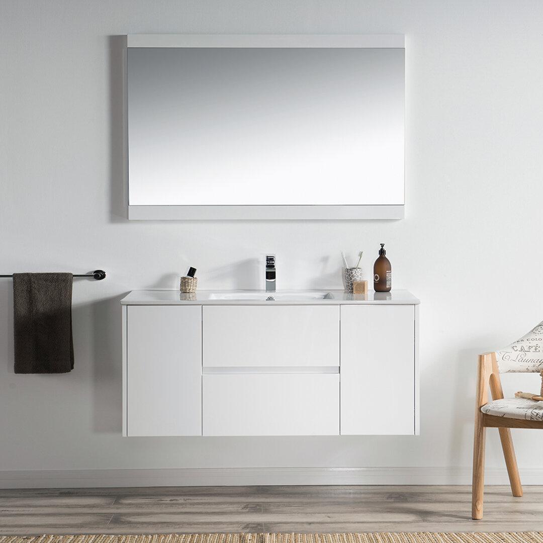 Master Bathroom Wall Mounted Floating Bathroom Vanities You Ll Love In 2021 Wayfair