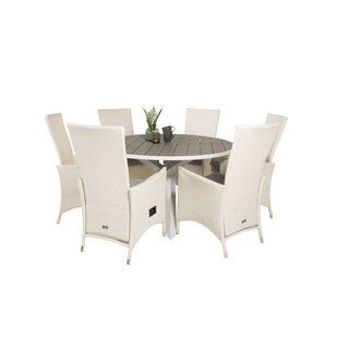 Akia 6 Seater Dining Set With Cushions By Sol 72 Outdoor
