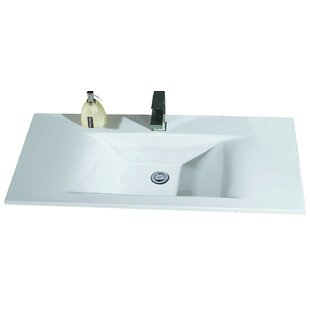 Compare Ceramic Rectangular Drop-In Bathroom Sink By EAGO