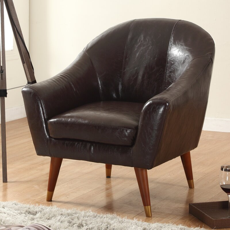 Mid Century Modern Barrel Chair