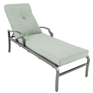 Red Barrel Studio Konevsky Aluminum Reclining Chaise Lounge with Cushion