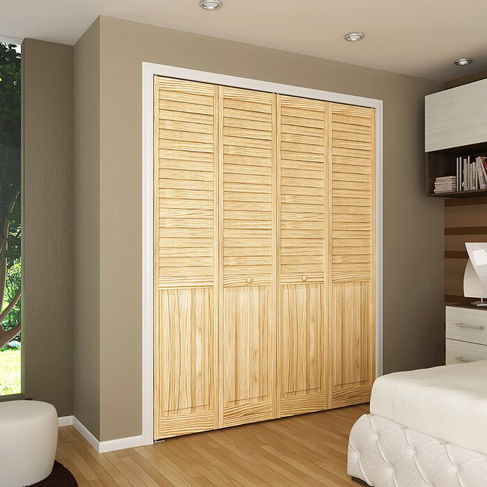 Plantation Louvre Panel Wood Bi Fold Door