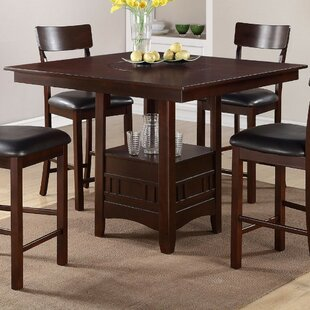 Parkland Wooden Counter Height Dining Table Winston Porter