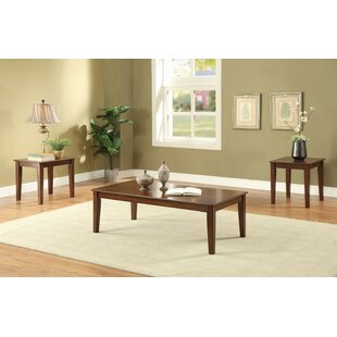 Renard Royal Wooden 3 Piece Coffee Table Set