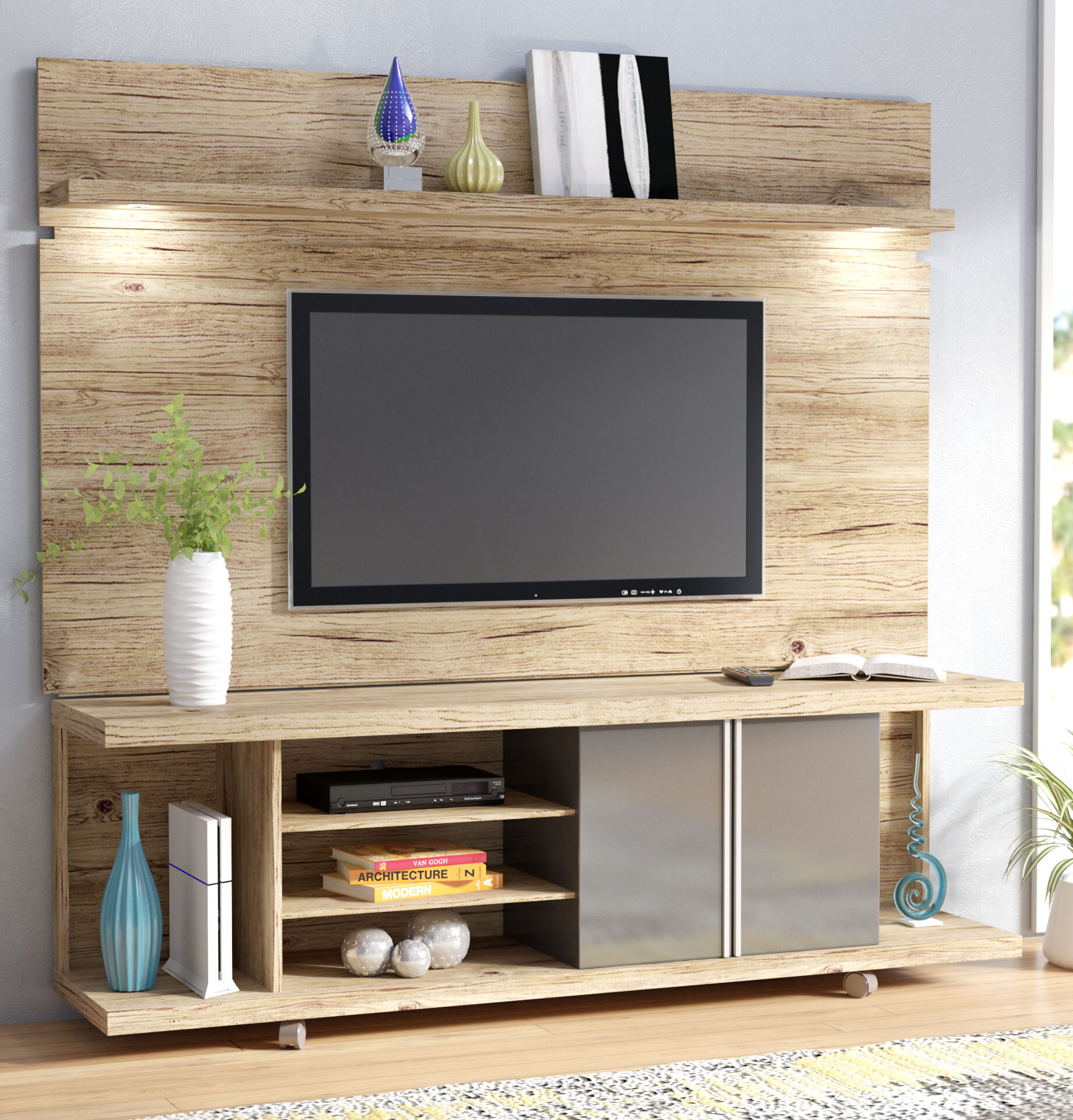 54a6d44bf0fe Wayfair | Wade Logan Lucca Entertainment Center for TVs up to 60