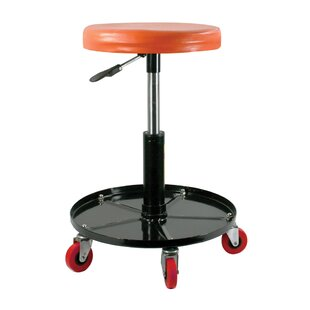 Leni Metal Height Adjustable Roller Shop Stool by Ebern Designs Sale