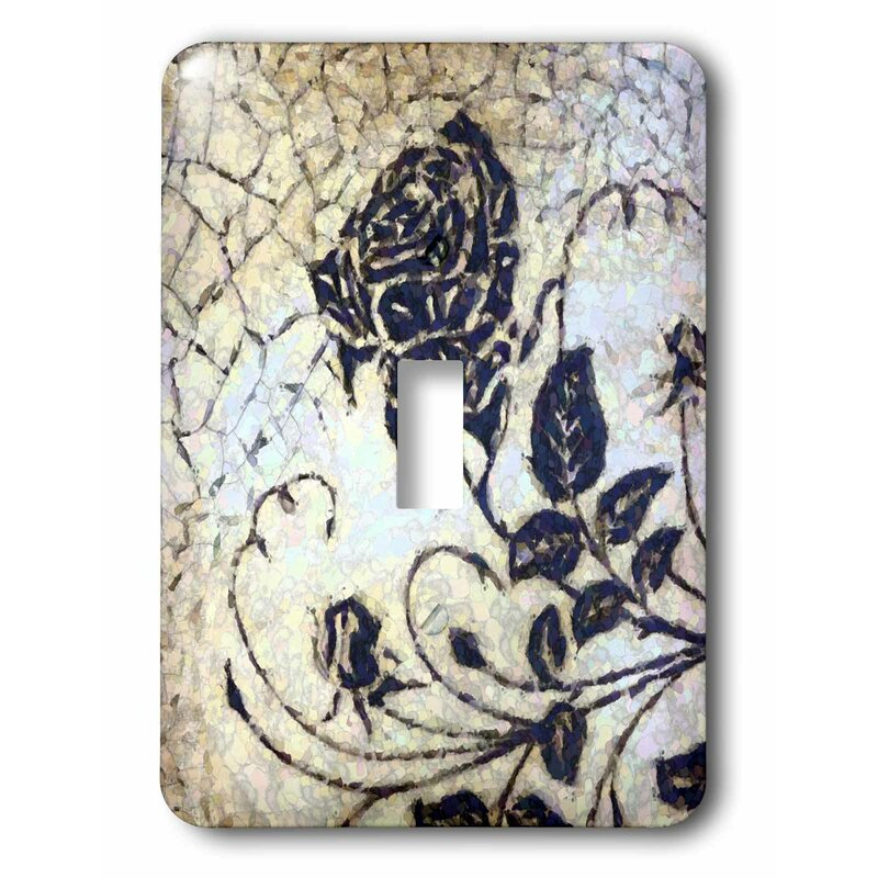 3drose Switch Cracked Rose 1 Gang Toggle Light Switch Wall Plate Wayfair