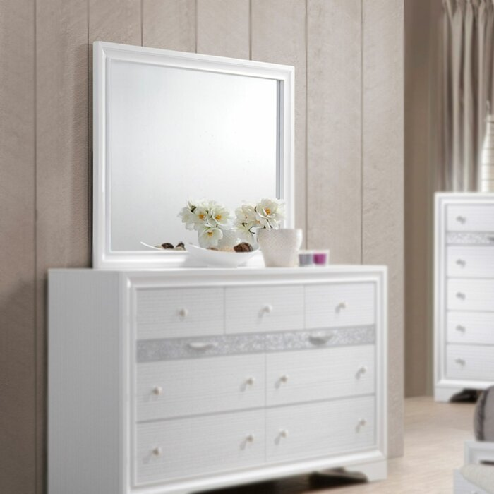 Ines 9 Drawer Dresser With Mirror