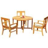 Kevon 4 Piece Teak Dining Set