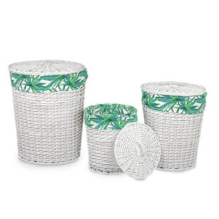 Wicker Laundry Set By Bay Isle Home