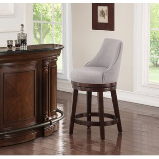 Karam Bar & Counter Swivel Stool by Charlton Home