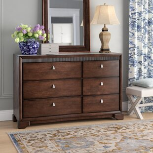 Three Posts Akins 6 Drawer Double Dresser