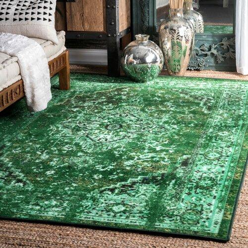 Nistler Persian Inspired Green Area Rug