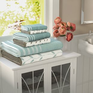 Hodapp 6 Piece 100% Cotton Towel Set