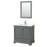 Deborah 36 Single Bathroom Vanity Set with Mirror by Wyndham Collection