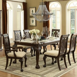 Christman 7 Piece Extendable Solid Wood Dining Set Astoria Grand
