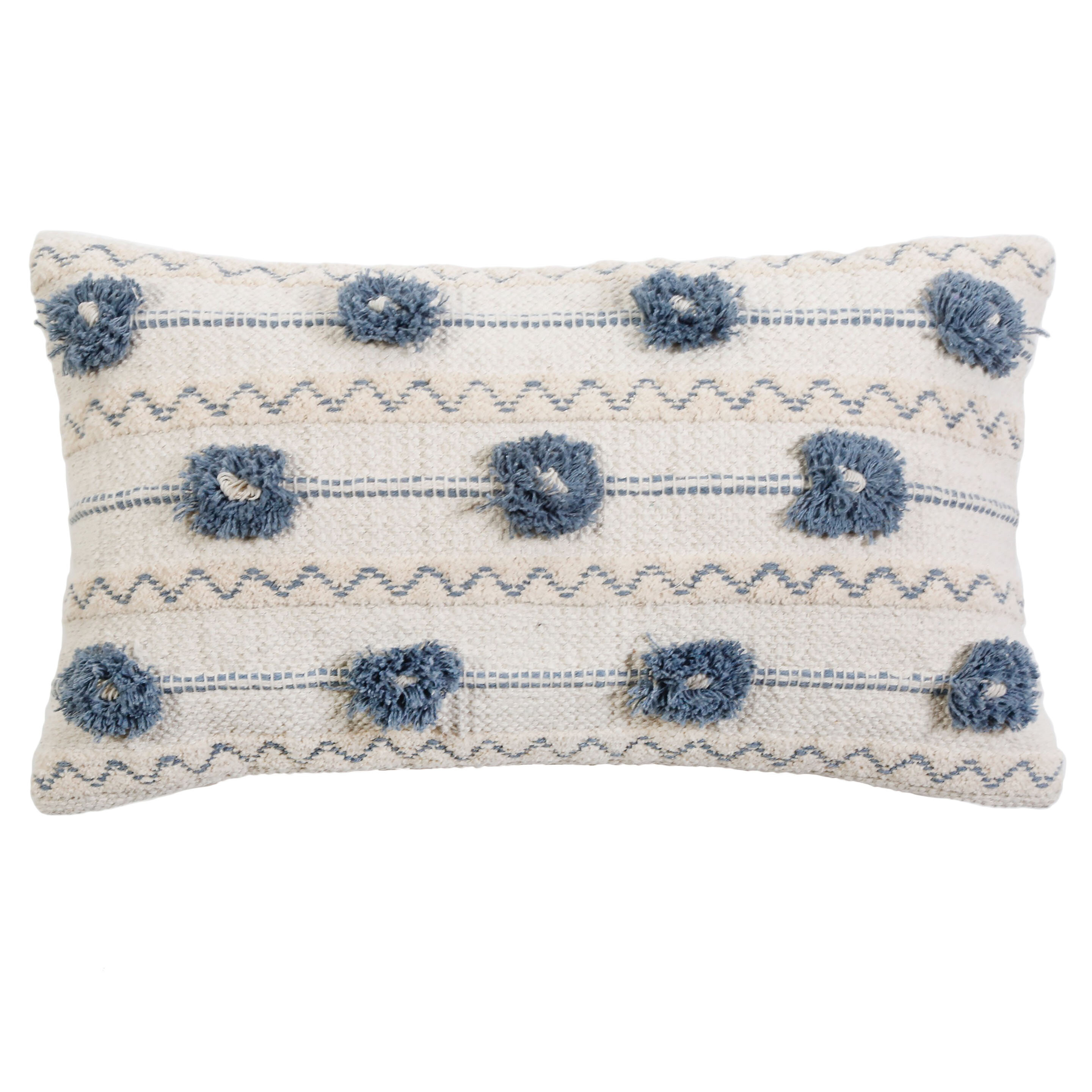 Pom Pom At Home Izzy Cotton Feather Striped Lumbar Pillow Perigold