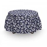 Poppy Corsage 2 Piece Box Cushion Ottoman Slipcover Set by East Urban Home