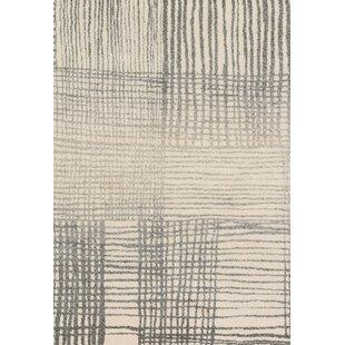 Aparicio Ivory/Gray Area Rug byLatitude Run
