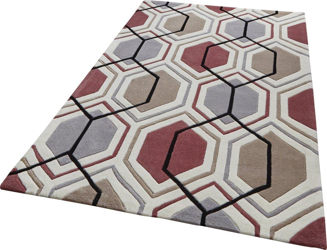 ScanMod Design Handgetufteter Teppich Tobruk in Grau/Pfirsich ...