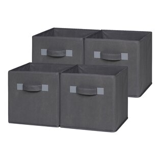 Foldable Cloth Storage Cube (Set of 4) By OneSpace