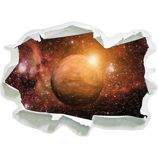 Planet Mars In The Universe Wall Sticker By East Urban Home