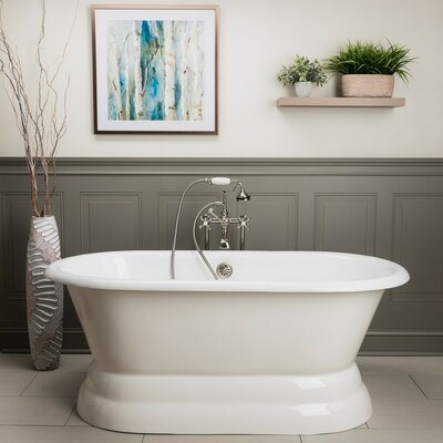 Laurent Freestanding Soaking Bathtub Chevington