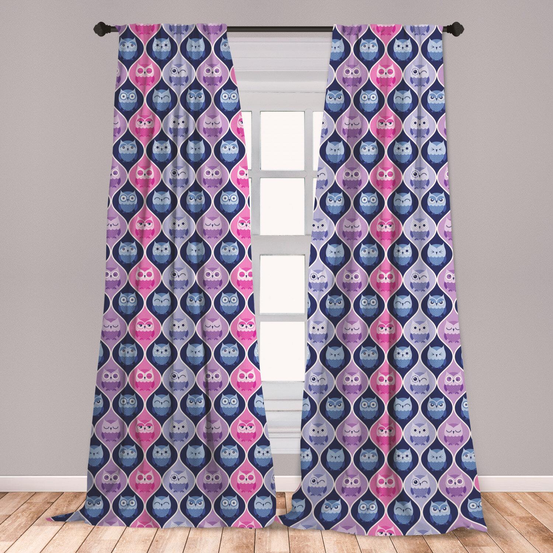 Image of: East Urban Home Owl Room Darkening Rod Pocket Curtain Panels Wayfair