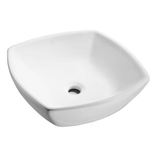 ANZZI Deux Series Vitreous China Square Vessel Bathroom Sink
