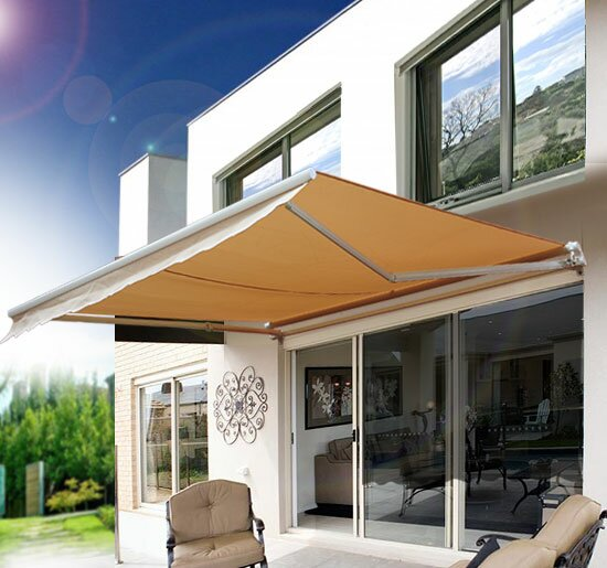 8 Ft W X 7 D Retractable Patio Awning