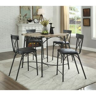 Braffe 5 Piece Counter Height Dining Set by Latitude Run