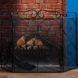 Tapton Steel Fireplace Screen By Marlow Home Co.