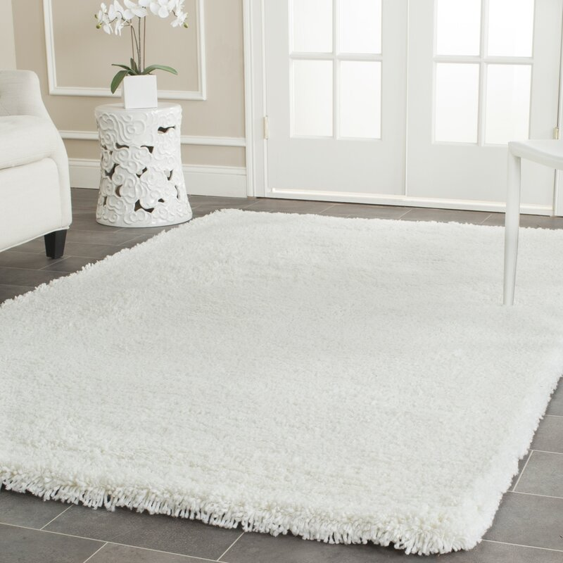 willa arlo interiors maya solid white area rug & reviews | wayfair