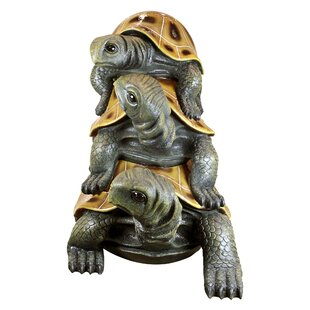 Design Toscano 3 Piece Crowd Stacked Turtle Giant Statue Set