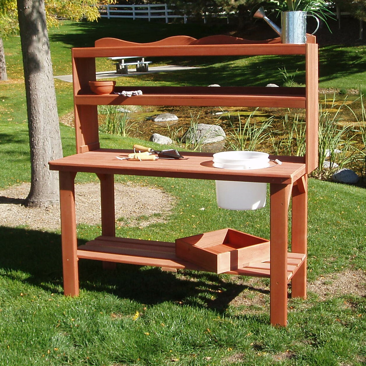 Garden Potting Bench: WoodCountry Master Potting Bench & Reviews