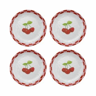 Devyn Cherry Melamine Salad or Dessert Plate (Set of 4)