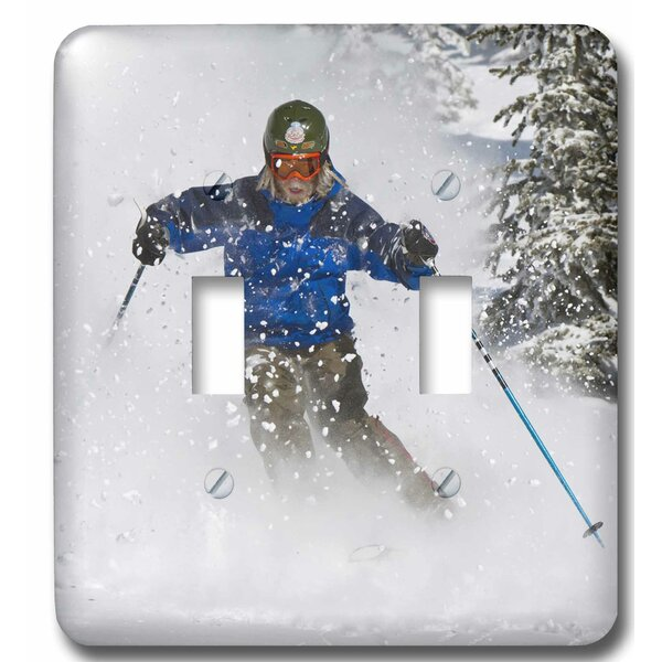 3drose Skiing Whitefish Mountain Resort In Montana 2 Gang Toggle Light Switch Wall Plate Wayfair