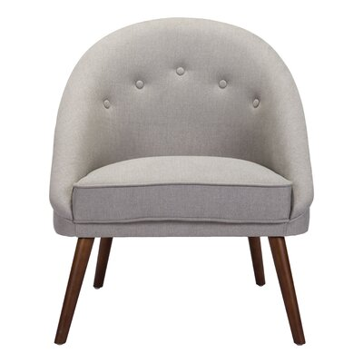 Langley Street Magnolia Barrel Chair Upholstery Light Gray
