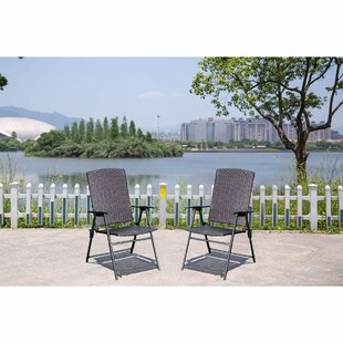 Cartley Folding Patio Dining Chair (Set of 2)