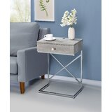 Gibby Frame End Table with Built-In Outlets by Mercer41