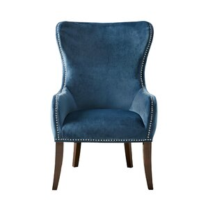 Garrison Button Tufted Wingback Chair by Darby Home Co