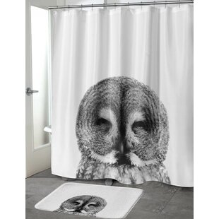 Owl Single Shower Curtain