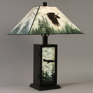 Hand Painted Eagle 23 Table Lamp